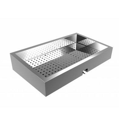 Combisteel Crushed-Eis Behälter | 3/1 GN | Schräg | Edelstahl | Front-Abfluss