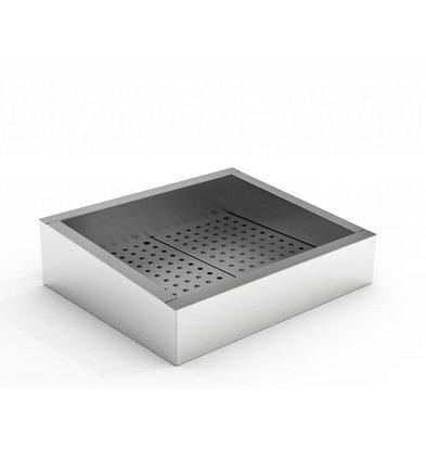 Combisteel Crushed-Eis Behälter | 2/1 GN | Schräg | Edelstahl | Abfluss Bedienungsseite