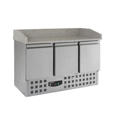 Combisteel Pizzatisch |Statisch | 3 Türen | 1400x700x(h)1020mm | 230V