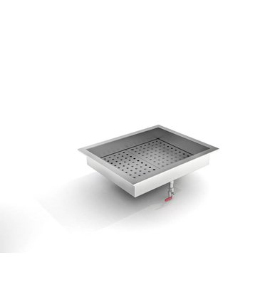 Combisteel Crushed-Eis Behälter | 2/1 GN | Einbau