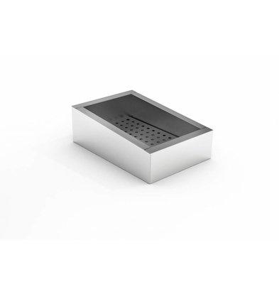 Combisteel Crushed-Eis Behälter | 1/1 GN | Schräg | Edelstahl | Abfluss Bedienungsseite