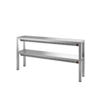 Combisteel Wärme Brücke 2 Etagen | Edelstahl | 1000x300x(h)650 mm | Erhältlich in 6 Größen