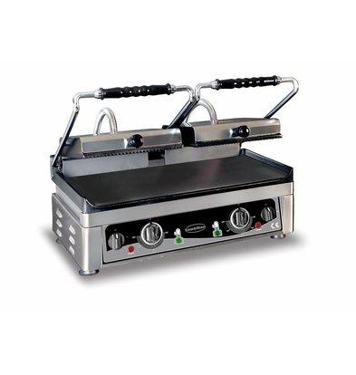Combisteel Kontaktgrill glatt/gerillt | 560x400x(h)300mm | 230V-3,5kW