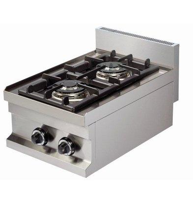 Combisteel Gasherd Base 600 | 2 Brenner | 2x3,6kW | 400x600x(h)265mm