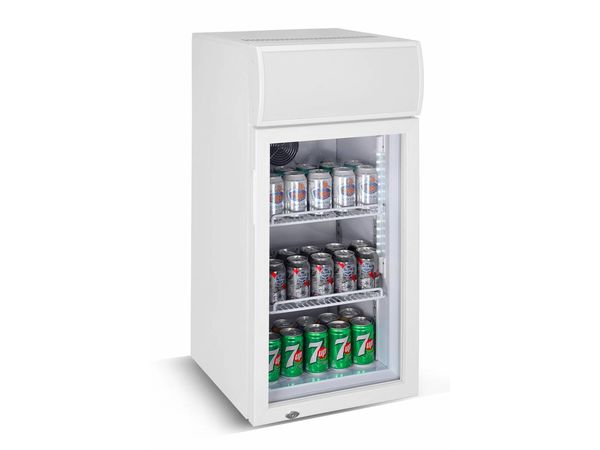 Minibar Kühlschrank Glastür : Mini barkühlschrank glastür 80 liter 460x495x h 985mm