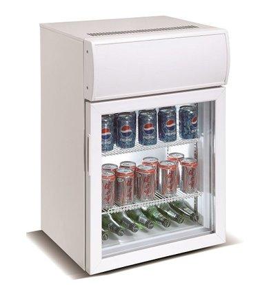 Combisteel Mini Barkühlschrank | Glastür | 75 Liter  535x455x(h)815mm