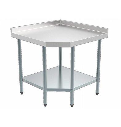 Combisteel Zerlegbarer Arbeitstisch Eckeinheit 900/900x700x(h)850mm