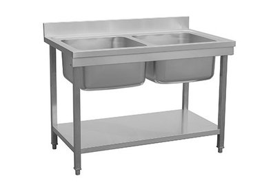Edelstahl Spültische 2 Waschbecken