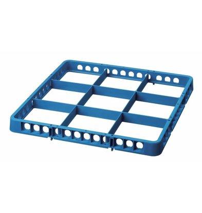 Bartscher Spülkorbteiler | 9 Fächer | Blau | 500x500x(h)45mm