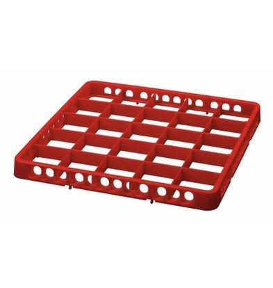 Bartscher Spülkorbteiler | 25 Fächer | Rot | 500x500x(h)45mm