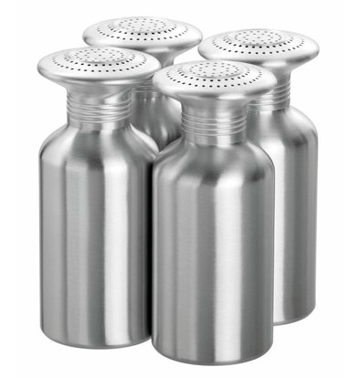 Bartscher Salzstreuer   4 Salzstreuer   Aluminium   80x80x(h)190mm