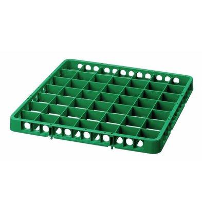 Bartscher Spülkorbteiler | 49 Fächer | Grün | 500x500x(h)45mm