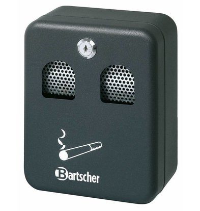 Bartscher Wandascher | Stahlblech | 1 Liter | 160x90x(h)200mm | schwarz