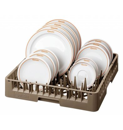 Bartscher Teller-Tablettkorb | Stapelbar | 500x500x(h)100mm