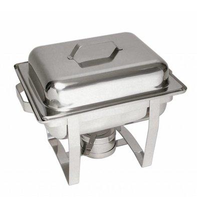 Bartscher Chafing Dish | 1/2GN | Tiefe 65mm | Chromnickelstahl | 375x290x(h)320mm