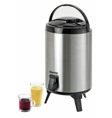 Bartscher Iso-Dispenser | 9 Liter | Edelstahl Behälter | 261x226x(h)385mm