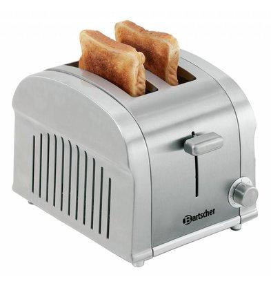 Bartscher Toaster TS20 | 2 Schnitte | Krümelschublade | 190x265x(h)195mm
