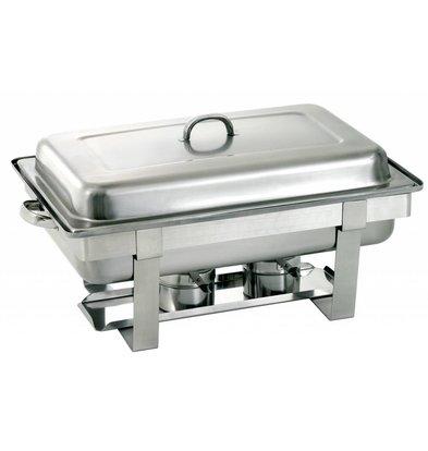 Bartscher Chafing Dish | 1/2GN | Tiefe 65 mm | Chromnickelstahl | 610x350x(h)320mm