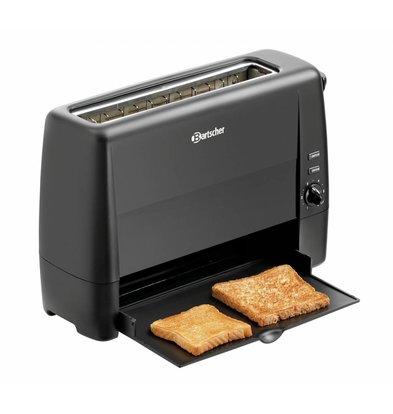Bartscher Toaster Schwarz | Kunststoff | 1 Schnitte | 1,3kW | 405x152x(h)268mm