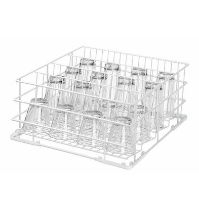 Bartscher Spülkorb für Gläser | 400x400x(h)210mm