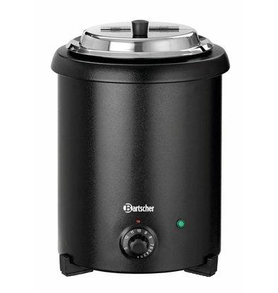 Bartscher Elektro-Suppentopf | 5,4 Liter | Herausnehmbarer Einsatz | Ø265x(h)395mm