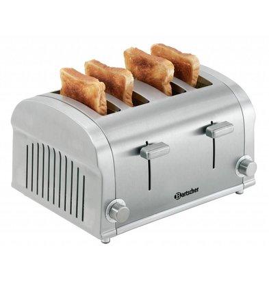 Bartscher Toaster TS40 | 4 Schnitte | Krümelschublade | 320x270x(h)195mm