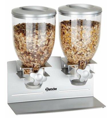 Bartscher Cerealienspender | Kunststoff | 2x 3,5 Liter | 360x170x(h)395mm