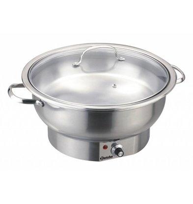 Bartscher Elektro-Chafing Dish | Rund |3,8 Liter | 330x(h)220mm