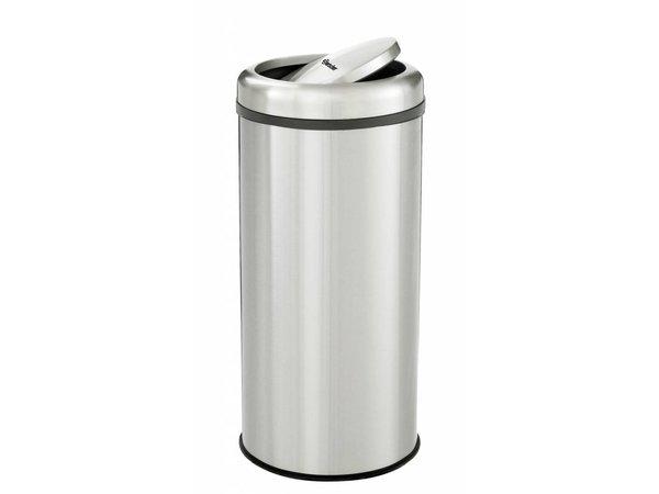 Bartscher Abfalleimer | Abfallbehälter | Edelstahl | Schwingdeckel |50 Liter | Ø 350x(h)750mm