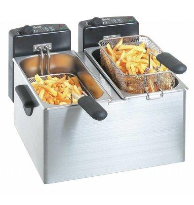 Bartscher Elektro-Doppel-Friteuse | 2x4 Liter | 2x2,2kW | 400x400x(h)280mm