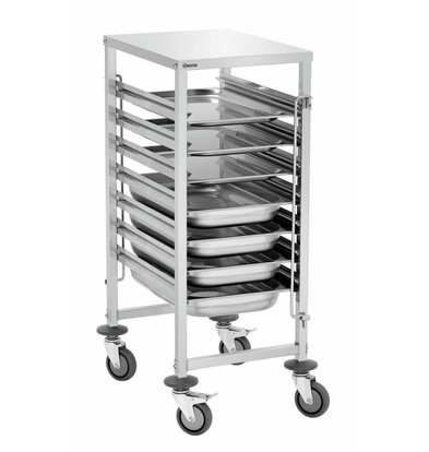 Bartscher Gastronormwagen | 4 Lenkrollen | Max.60kg | 450x620x(h)1010mm