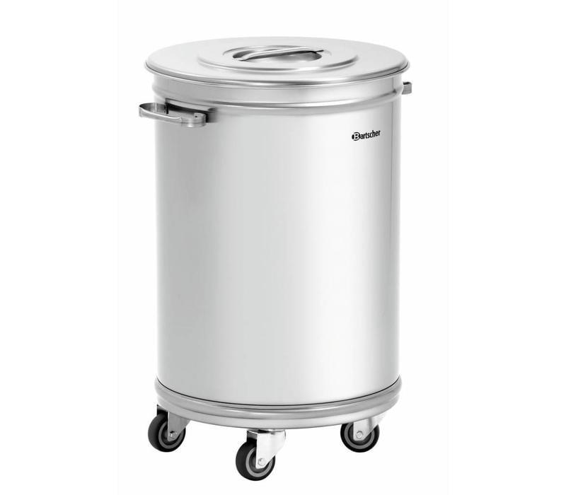 Bartscher Abfalleimer   Abfallbehälter mit Rollen   56 Liter   460x400x(h)620-723mm