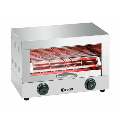 Bartscher Toast-/Überbackgerät | Quarz-Strahler | 440x260x(h)290mm | 1700W