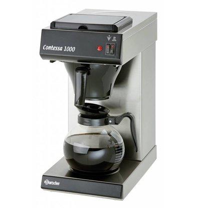 Bartscher Kaffeemaschine Contessa 1000 | Chromnickelstahl | 1,8 Liter | 215x385x(h)460mm