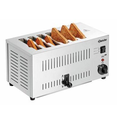 Bartscher Toaster TS60 | 6 Schnitte | Krümelschublade | 405x265x(h)220mm