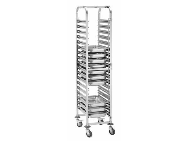 Bartscher Abräumwagen | 18 x GN 1/1 Behälter
