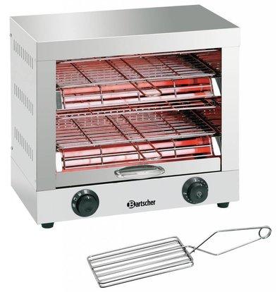 Bartscher Toast-/Überbackgerät | Quarz-Strahler | 440x260x(h)400mm | 3000W