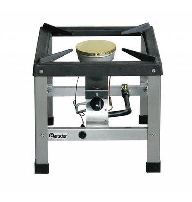 Bartscher Gas-Hockerkocher | 1 Brenner | Piezo-Zündung | 400x440x(h)390mm