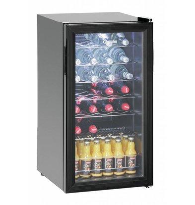 Bartscher Flaschenkühlschrank/Weinkühler | 28 Flaschen | 80 Liter | 430x480x(h)820mm