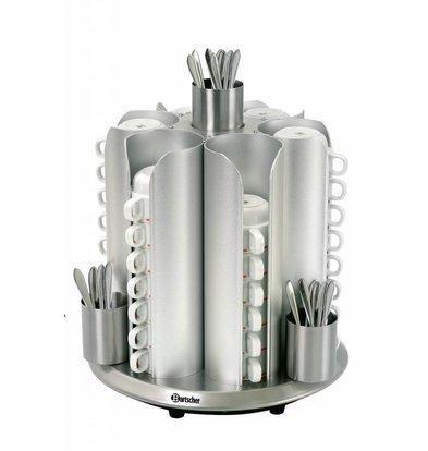 Bartscher Tassenwärmer | 48 Tassen | 200W | Ø 350x(h)405mm