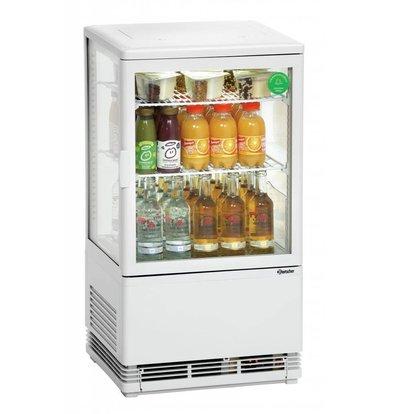 Bartscher Mini Kühlvitrine | Weiß | 58 Liter | Umluftkühlung | 425x380x(h)805mm
