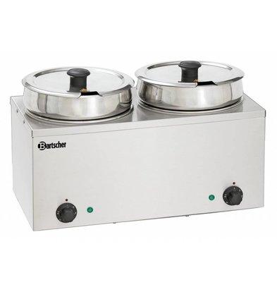 Bartscher Elektro-Bain-Marie Hotpot | 2x Topf 6,5 Liter | 505x280x(h)320mm