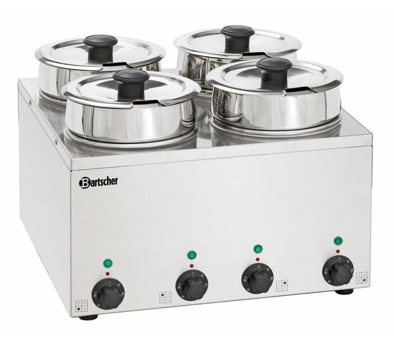 Bartscher Elektro-Bain-Marie Hotpot | 4x Topf 3,5 Liter | 415x415x(h)320mm