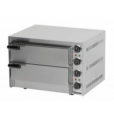 Bartscher Elektro Pizzaofen Mini | 2x Pizza Ø350mm | 2,7kW | 545x500x(h)380mm