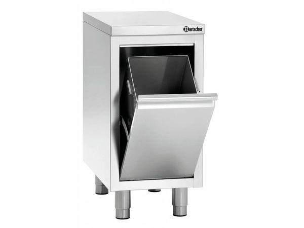 Bartscher Abfalleimer | Abfallbehälterschrank | 28 Liter |  340x700x(h)850-900mm