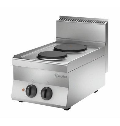 Bartscher Elektroherd 650 Serie | 2 Kochstellen rund | Tischgerät | 400x650x(h)295mm