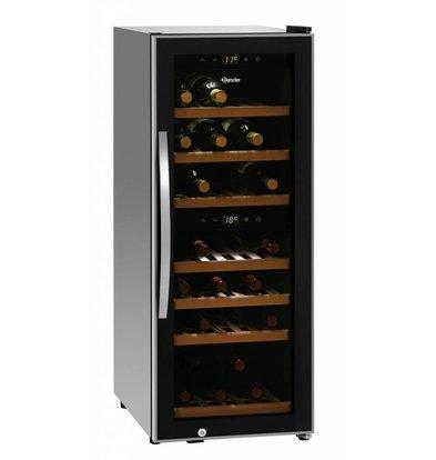 Bartscher Weinkühlschrank | 38 Flaschen | 2 Temperaturzonen | 396x580x(h)1030mm