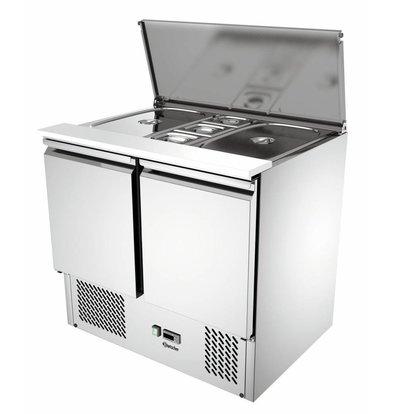 Bartscher Saladette 900T2   Umluftkühlung   Tauwasserverdünstung   900x700x(h)870mm
