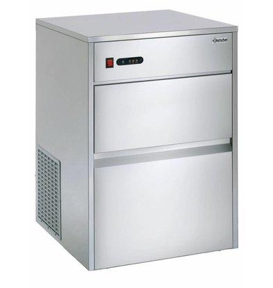 Bartscher Eiswürfelbereiter C40 | 35kg/24Std | Vorratsbehälter 13 kg | 550x635x(h)825mm