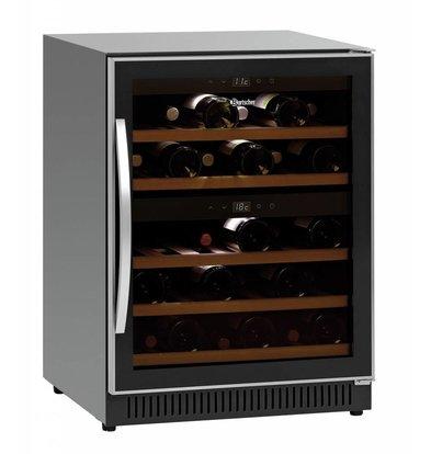 Bartscher Weinkühlschrank | 40 Flaschen | 2 Temperaturzonen | 590x575x(h)825mm